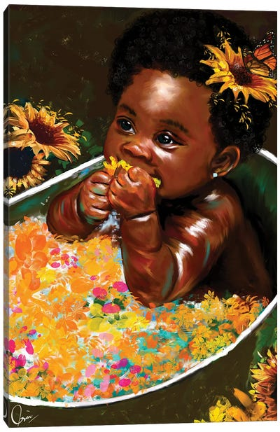 "Brown Skin Girl ""Hope"" Canvas Art Print"