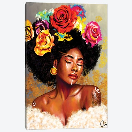 "Brown Skin Girl ""Harriet"" Canvas Print #CXE25} by Crixtover Edwin Art Print"