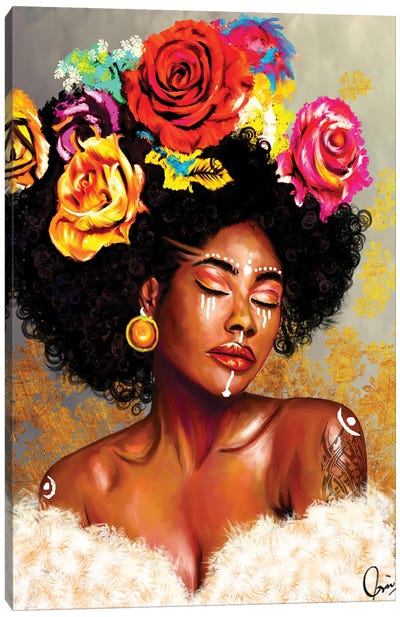 "Brown Skin Girl ""Harriet"" Canvas Art Print"