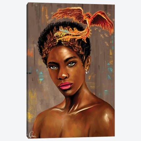 Jade 3-Piece Canvas #CXE26} by Crixtover Edwin Canvas Print