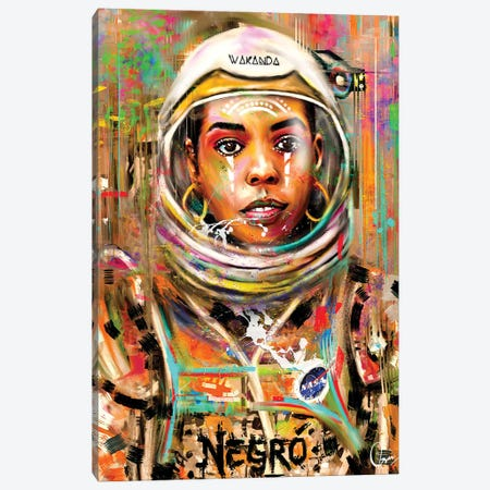 Space Negro Canvas Print #CXE28} by Crixtover Edwin Canvas Wall Art