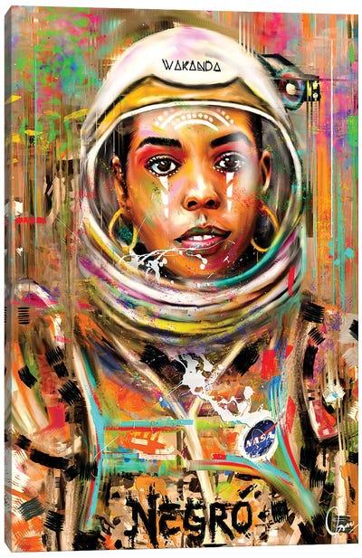 Space Negro Canvas Art Print