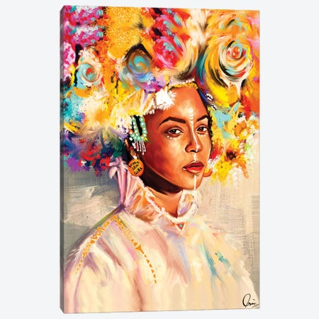 Brown Skin Girl Canvas Print #CXE32} by Crixtover Edwin Canvas Art Print