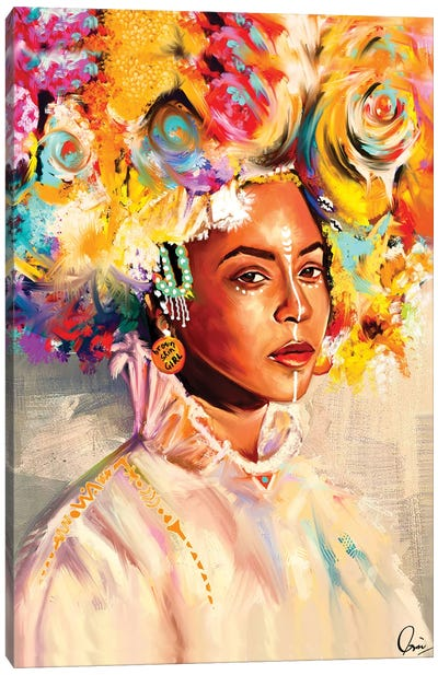 Brown Skin Girl Canvas Art Print