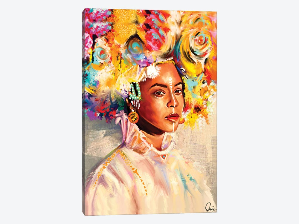Brown Skin Girl by Crixtover Edwin 1-piece Canvas Print