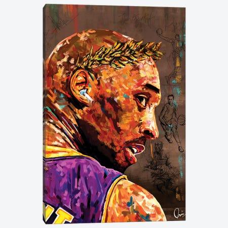 Kobe Bryant Canvas Print #CXE33} by Crixtover Edwin Art Print