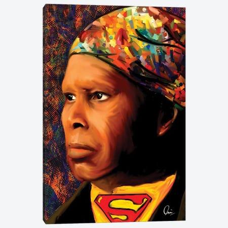 Harriet Tubman SuperHero Canvas Print #CXE34} by Crixtover Edwin Canvas Wall Art