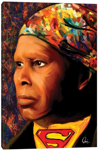 Harriet Tubman SuperHero Canvas Art Print