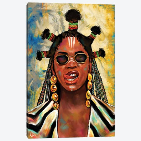 Black Is King Beyoncé Canvas Print #CXE35} by Crixtover Edwin Canvas Artwork