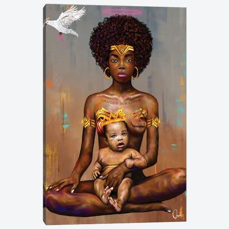 Cancer Survivor Canvas Print #CXE3} by Crixtover Edwin Canvas Artwork