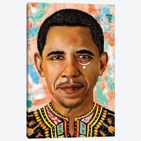 Barack Obama Canvas Print #CXE4} by Crixtover Edwin Canvas Art Print