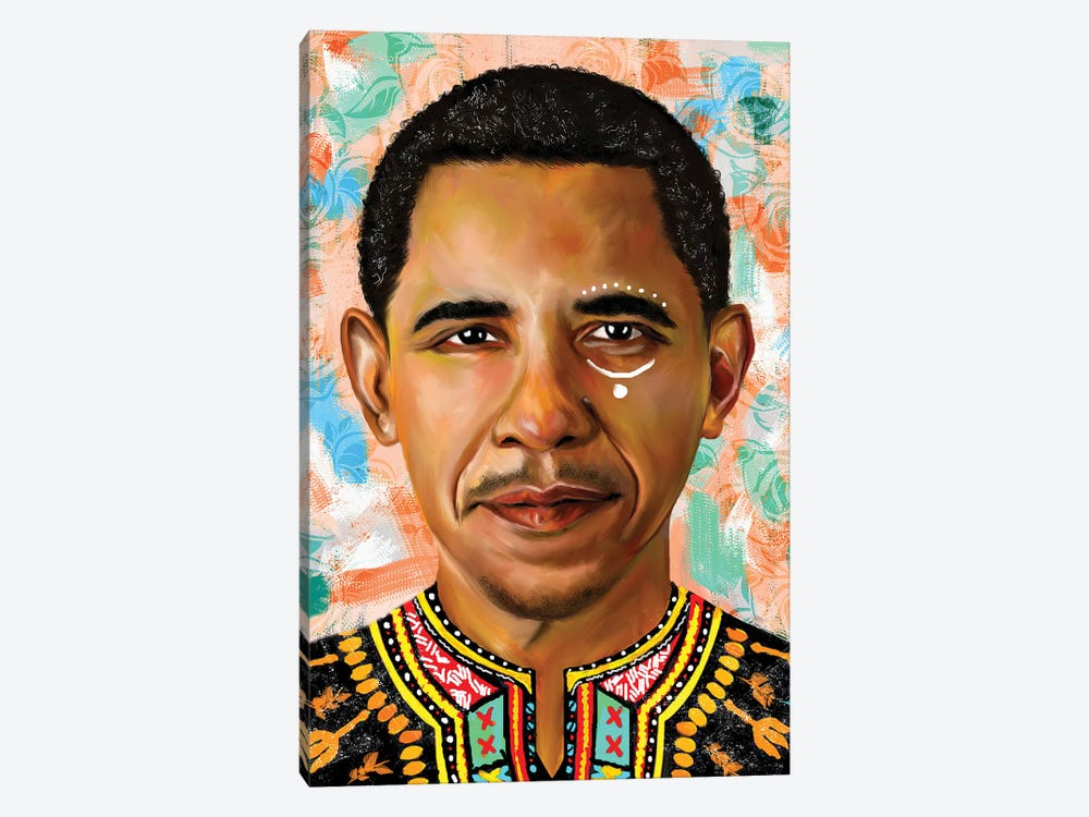 Barack Obama by Crixtover Edwin 1-piece Canvas Wall Art