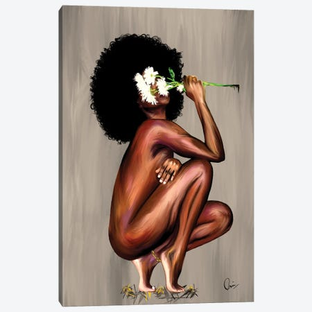 Floral Queen Canvas Print #CXE5} by Crixtover Edwin Canvas Print