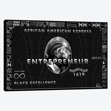 African American Express Canvas Print #CXE6} by Crixtover Edwin Art Print
