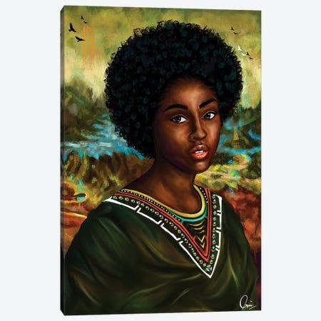 Melanin Mona Lisa 3-Piece Canvas #CXE7} by Crixtover Edwin Canvas Art Print