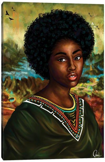 Melanin Mona Lisa Canvas Art Print