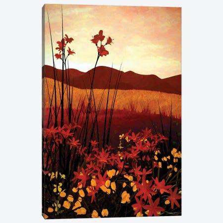 Field Of Flowers Canvas Print #CYD31} by Cynthia Decker Art Print