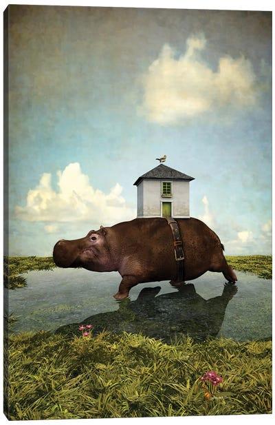 House Hippo Canvas Art Print
