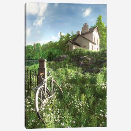 House On The Hill Canvas Print #CYD36} by Cynthia Decker Canvas Artwork