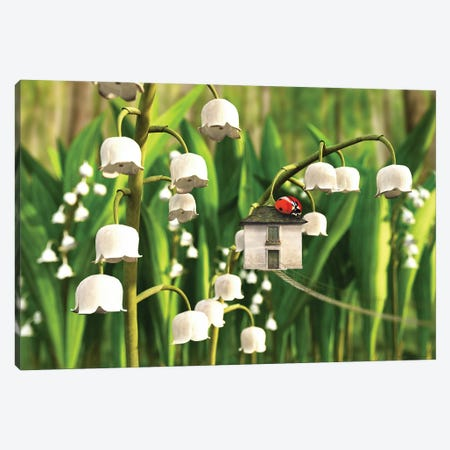 Lily Of The Valley Canvas Print #CYD41} by Cynthia Decker Canvas Wall Art