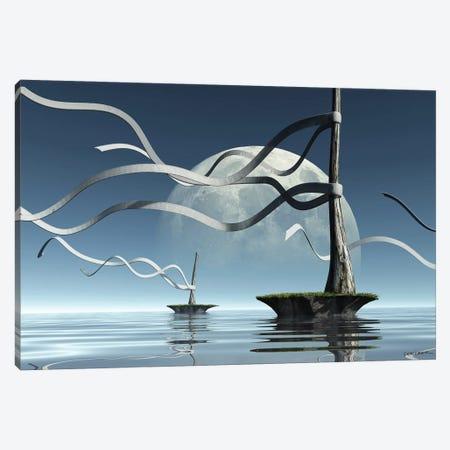 Ribbon Islands Canvas Print #CYD58} by Cynthia Decker Art Print