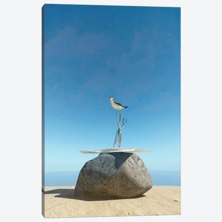 Rock Paper Scissors Canvas Print #CYD59} by Cynthia Decker Canvas Art Print