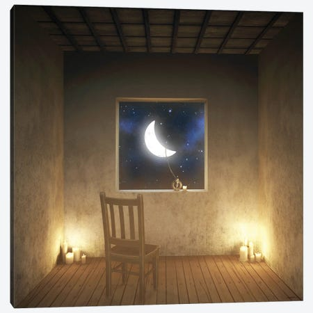 Room With A View Night Canvas Print #CYD61} by Cynthia Decker Canvas Artwork