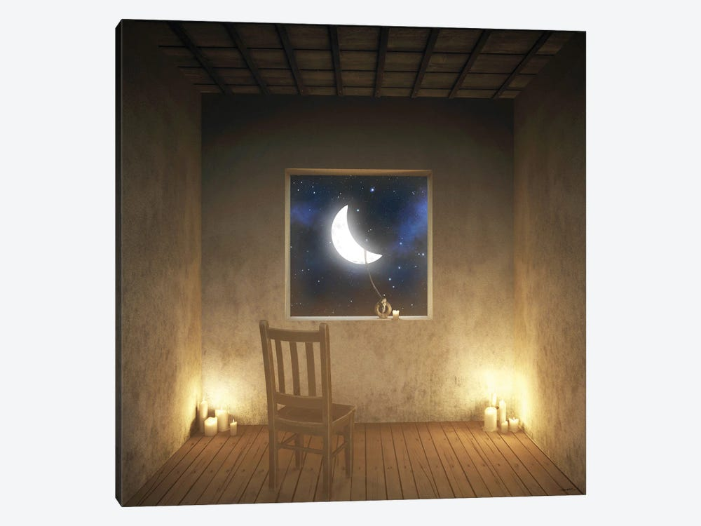 Room With A View Night by Cynthia Decker 1-piece Canvas Artwork