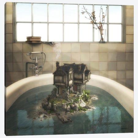 The Bath Canvas Print #CYD7} by Cynthia Decker Art Print