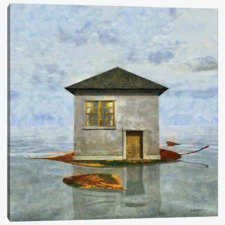 Tiny House V Canvas Print #CYD81} by Cynthia Decker Canvas Artwork