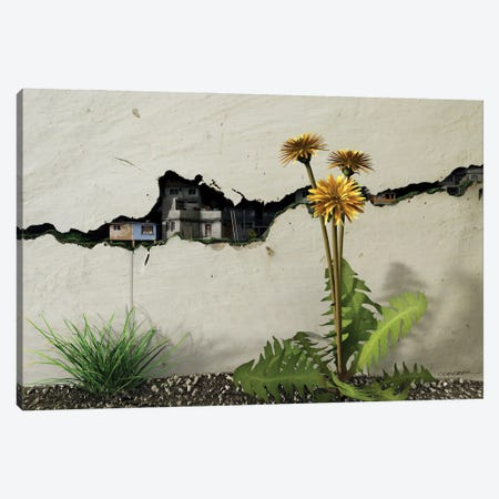 Between The Cracks Canvas Print #CYD8} by Cynthia Decker Canvas Art