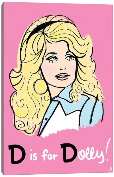 D Is For Dolly Canvas Art Print