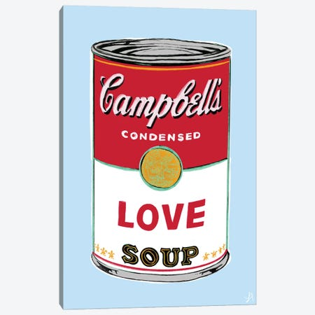 Love Soup Canvas Print #CYE19} by Chromoeye Canvas Wall Art