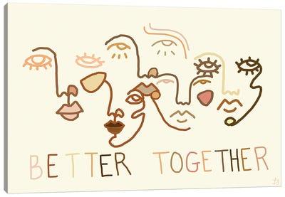 Better Together Neutral Canvas Art Print