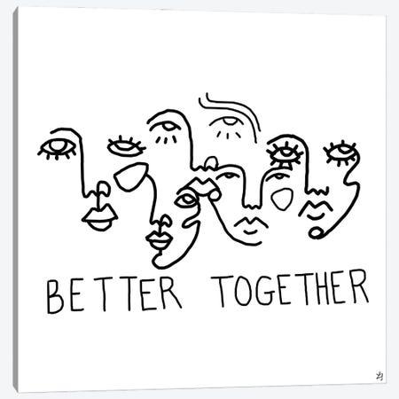 Better Together Canvas Print #CYE22} by Chromoeye Canvas Print