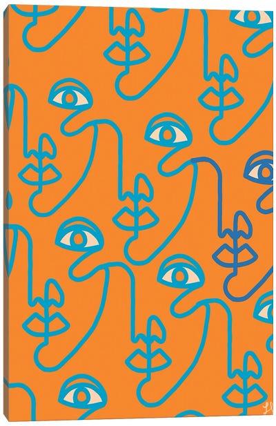 Multi-Face Tangerine Canvas Art Print