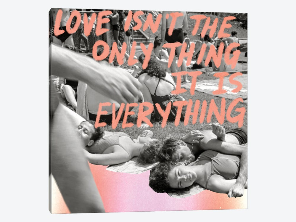 Love is Everything by Chromoeye 1-piece Art Print