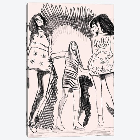 Blame It On The Boogie Canvas Print #CYE46} by Chromoeye Canvas Wall Art