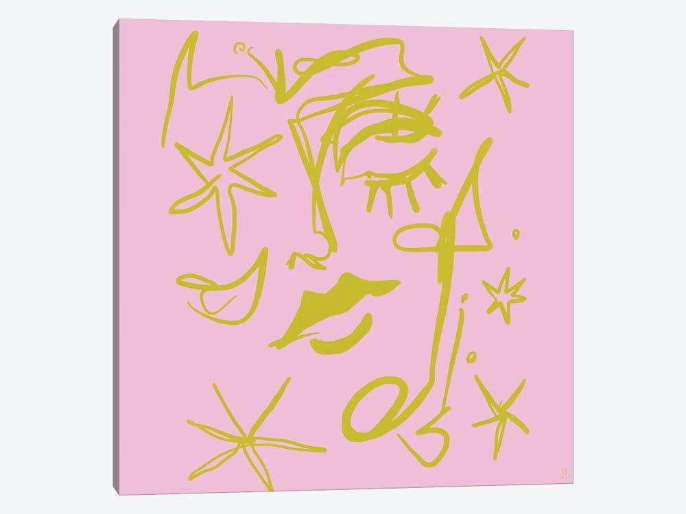 Star Gazer by Chromoeye 1-piece Canvas Artwork