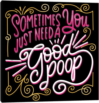 Sometimes You Just Need A Good Poop Canvas Art Print