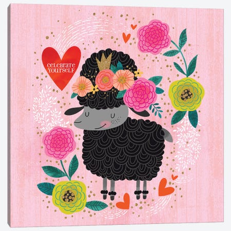 Celebrate Yourself Black Sheep Canvas Print #CYF42} by Cynthia Frenette Canvas Art