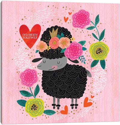 Celebrate Yourself Black Sheep Canvas Art Print