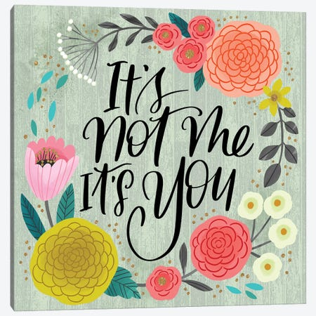 Its Not Me Its You Canvas Print #CYF47} by Cynthia Frenette Canvas Art Print