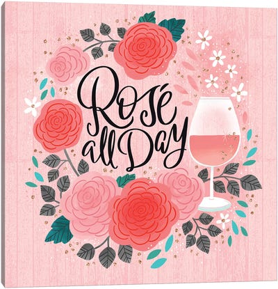 Rosé All Day Canvas Art Print