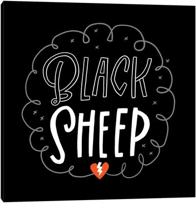 Black Sheep Canvas Art Print
