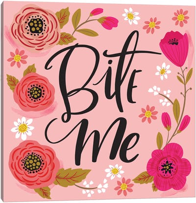 Bite Me Canvas Art Print