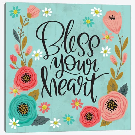 Bless Your Heart Canvas Print #CYF6} by Cynthia Frenette Canvas Print