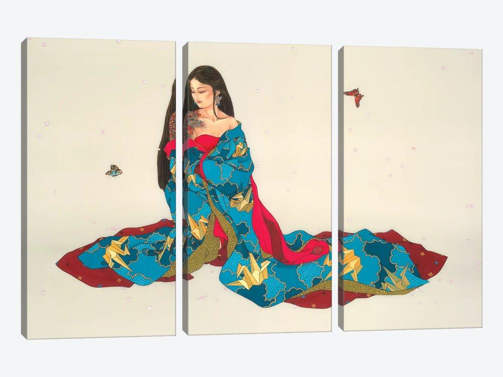 Dragon Mystique by Caroline R. Young 3-piece Canvas Art