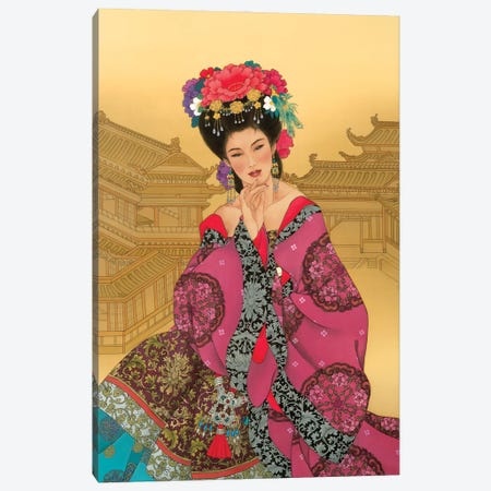 Empress Wu Canvas Print #CYG16} by Caroline R. Young Art Print