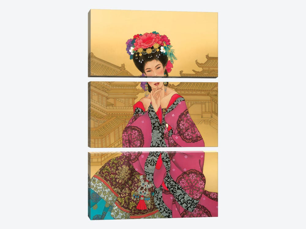 Empress Wu by Caroline R. Young 3-piece Canvas Artwork